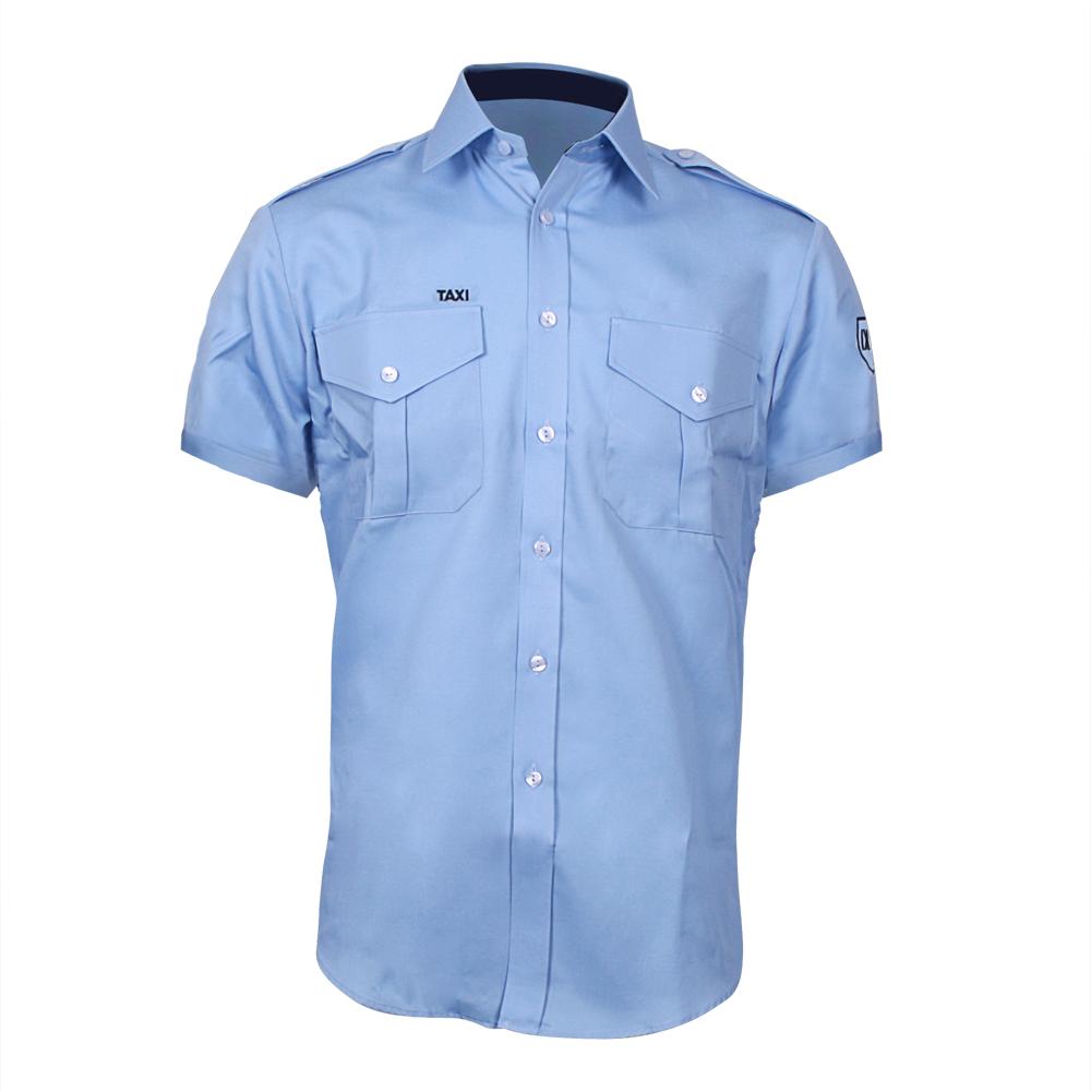 772198fc Blå Herreskjorte - kort arm